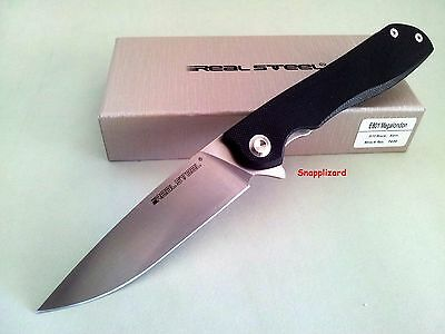 "Real Steel E801 Megalondon 7420 Flipper Folding Pocket Knife ""101"" Safety Lock"