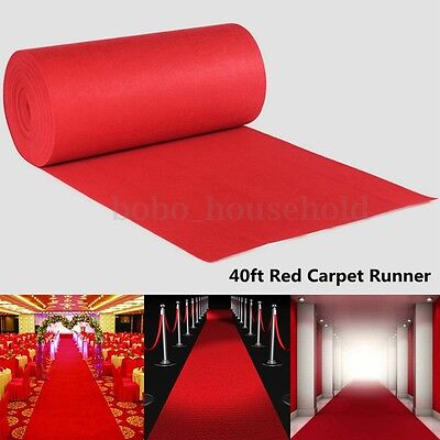 40ft Large VIP Red Carpet Hollywood Party Decoration Wedding Aisle Floor Runner