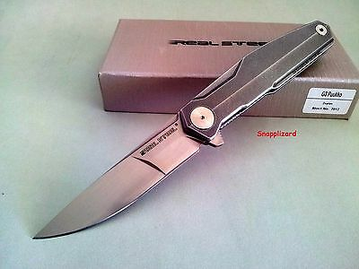 Real Steel G3 Puukko Flipper Duplex Grind 7812 Folding Pocket Knife EDC 14C28N