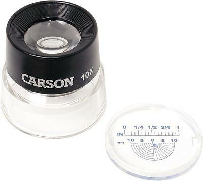 Carson LumiLoupe 10X Power Stand Magnifier With Dual Lens LL 20