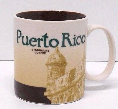 STARBUCKS Collector Series 2012 PUERTO RICO16oz Coffee Mug Cup GLOBAL ICON