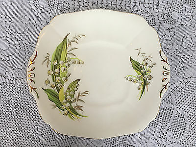 Adderley 'Lily of the Valley' Two Handled Cake Plate (835)