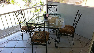 Glass Table And 4 Chairs + Coffee Table