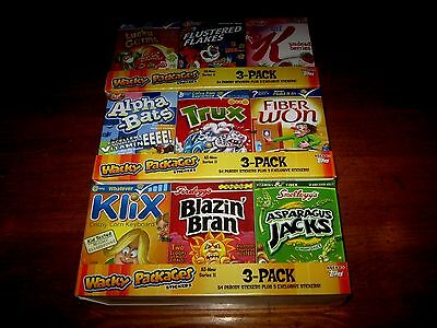 Wacky Packages Cereal Boxes Ans 11 Complete Set - All 9 - 3 New /sealed Trays
