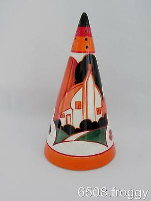 W/Wood - CLARICE CLIFF -  Bizarre CONICAL  Sugar Sifter - *FARMHOUSE* Mint