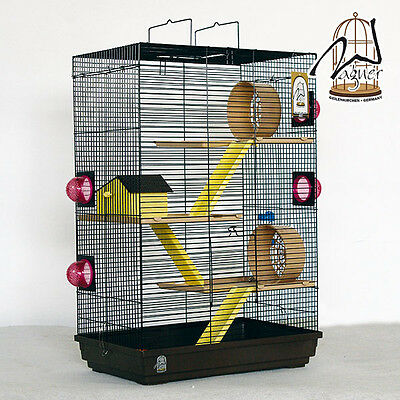 Grande Cage à rongeur,Cage a hamster Lenzkirch dans choco/vanille pour Rennmause