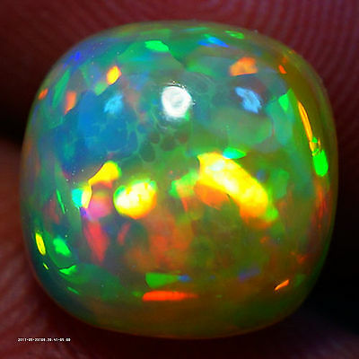 3.06 Ct 10X10 Mm The Best! 3D Fire Flash Honey Comb Welo Ethiopian Opal