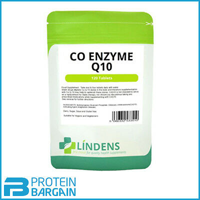 CoEnzyme Q10 30mg - 120 Tablets energy heart gums Cardiovascular (Lindens)  UK