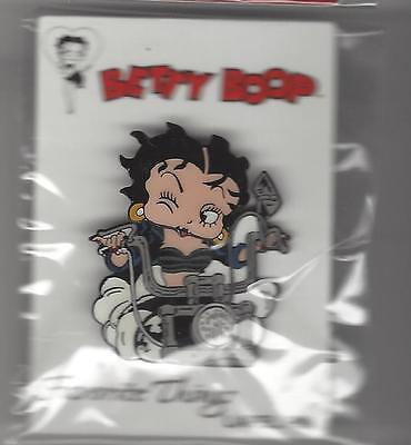 BETTY BOOP Winking Motorcycle Handle Bars Bobble Head Hat / Lapel  Pin