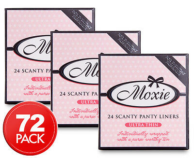 3 x Moxie Ultra Thin Scanty Panty Liners 24pk