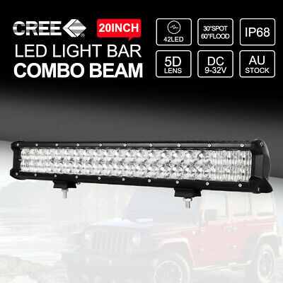 20inch 294W CREE 5D Lens LED Light Bar Flood Spot 4x4WD Work Driving