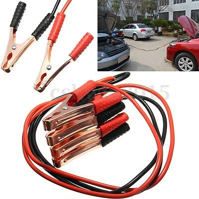 2M 500Amp Car Emergency Battery Power Line Heavy Duty Cable Clip Copper Wire