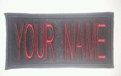 Personalised embroidered name, patch, emblem, badge. Ghostbusters, novelty,