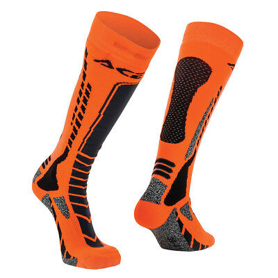Acerbis Socken MX Pro Schwarz/Fluo Orange