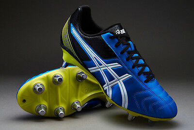Lethal Tackle 8  Stud Rugby Boot Electric Blue Rrp £59.99 Size Adult