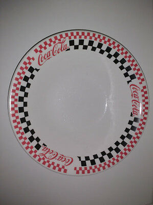 "Coke Coca-Cola 1997 Round 10"" Serving Bowl Checkered Gibson"