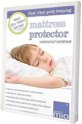 Bambino Mio Fitted Mattress Protector - Cot Bed