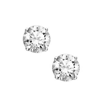 1/3 ct. tw. Diamond April Birthstone Solitaire Earrings in 14k White Gold