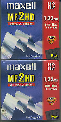 FLOPPY DISC MF 2HD N.02 SCATOLE (20 disc) MAXELL MICRO - NUOVO