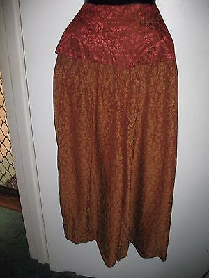 VINTAGE-Retro Rust-Gold pattern PANTS by Anthea Crawford Size 10