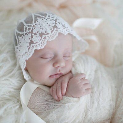 Soft Cute Newborn Baby Girls Lace Floral Hat Cap Beanie Bonnet gift EU