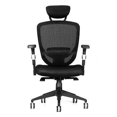 Moustache® Designed Adjustable Mid-Back Mesh Office Chair - Black