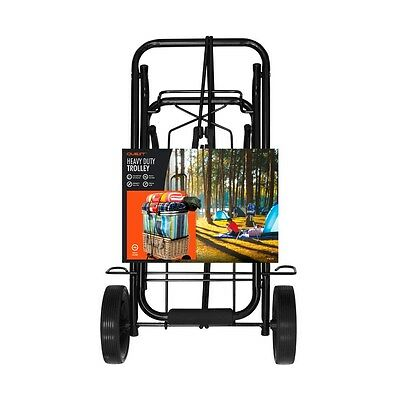 Camping Festival Heavy Duty Luggage Trolley Carry Up To 50kg with Plastic Grip