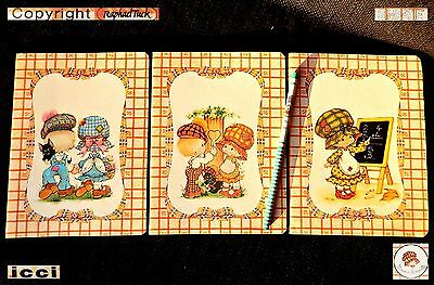 ❥ BONNIE BONNETS Tuck Simpatie Vintage 1980 doll QUADERNI MATITA Old Stationery