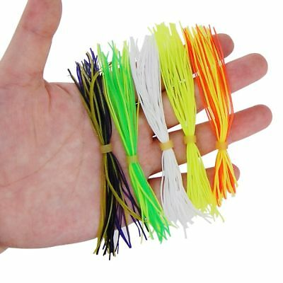 10 Bundles 40 Strands Silicone Skirts Fishing Spinnerbait Skirt Lure Mixed Color