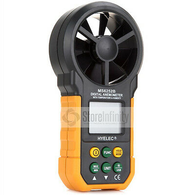 MS6252B USB LCD Digital Anemometer Air Volume Temperatur Humidity Tester US ship