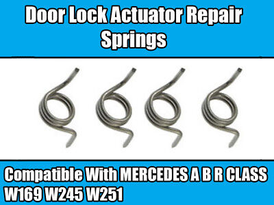4x DOOR LOCK ACTUATOR REPAIR SPRINGS For MERCEDES A B R CLASS W169 W245 W251