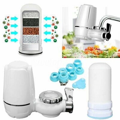 Kitchen Tap Faucets Water Filter Mount Water Purifier+Washable Ceramic Cartridge