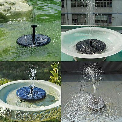 USA Solar Power Fountain Water Pump Floating Panel Pool Garden Pond Watering Kit