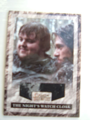 Game of thrones season 2 Night's Watch Cloak RNW1 Ice Variant Costume Relic Card