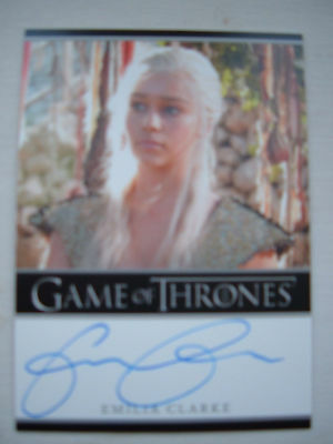Game of thrones season 1 Emilia Clarke as Daenerys Autograph auto Bordered