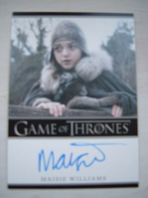 Game of thrones season 1 Maisie Williams Arya Stark Autograph auto Bordered