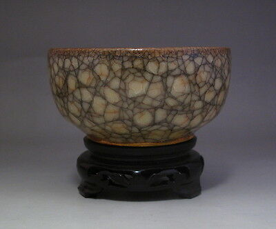 Old Chinese Guan Ware ice cracks Porcelain Bowl H112