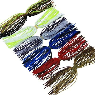 20 Bundles 50 Strands Silicone Skirts Fishing Skirt Rubber Jig Lure Mixed Color