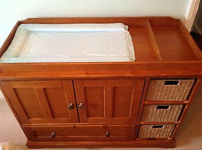 Mamas And Papas Solid Wood Baby Changing Table Large Size