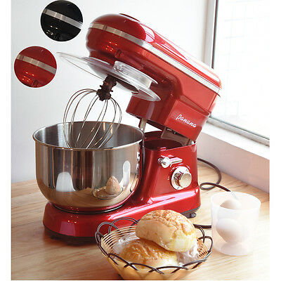 5 Speed Food Stand Mixer with 5L Bowl / Dough Hook / Whisk / Beater Red / Black