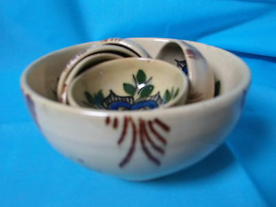 Pottery Set Of Finger Washing Bowls From Spain Late 1970's