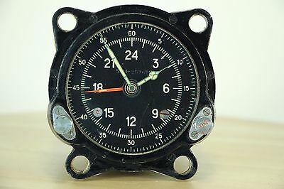 Good Used 55M (129ChS) Russian Military AirForce Cockpit Clock of Tupolev Bomber