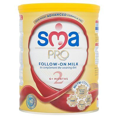 SMA Pro Follow-On Baby Milk Powder Stage 2 6+ Months 800g New & Sealed