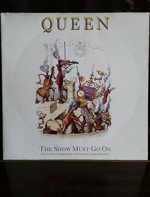"""Queen The Show Must Go On 12"""" Etched Vinyl 45RPM Single"""