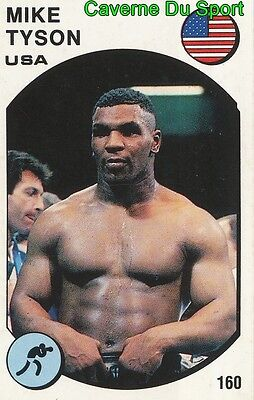 160 Mike Tyson Usa Boxing Figurine Sticker Supersport 1988 Panini Rare & New