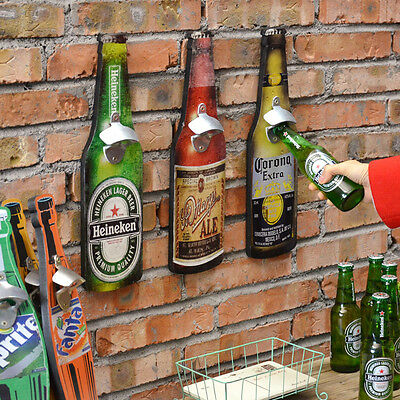 American Retro Bar Beer Bottle Opener Tool Creative Restaurant Wall Hangings