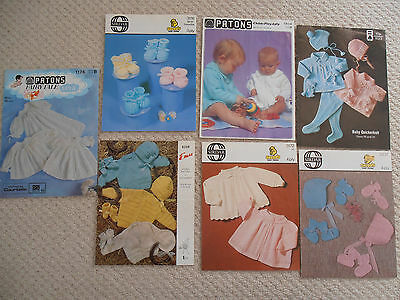 Bundle BABY Knitting Patterns incl vintage - Patons Sirdar - booties Christening