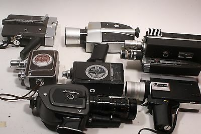 Lot of 8 Vintage Cameras Canon, Bauer, Beaulieu, Wittnauer & More!