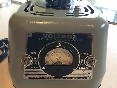 Ultimate Variac Superior Electric VOLTBOX 7.5A Powerstat, Metered, Chrome