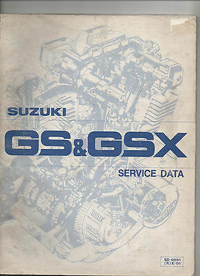 Suzuki Gs / Gsx Service Data Manual 1980 - Part Number Sd-0001 E-01